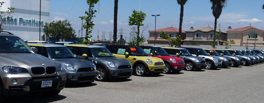 9 Mini-E's lined up for Delivery